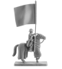Mounted Crusader with a banner