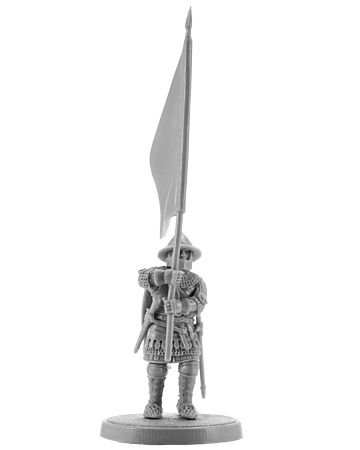 English knight with a banner