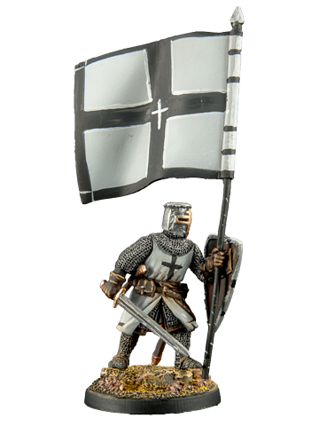 Crusader with a banner