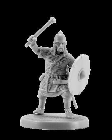 Slavic warrior with mace