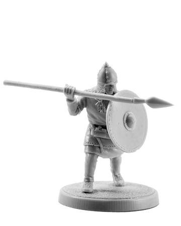 Slavic warrior with a spear #1
