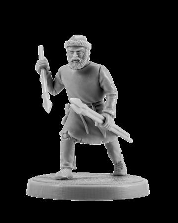 Slavic warrior with javelins #2