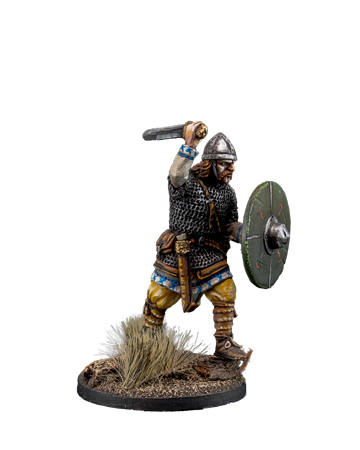 The Anglo-Saxon warrior with sword