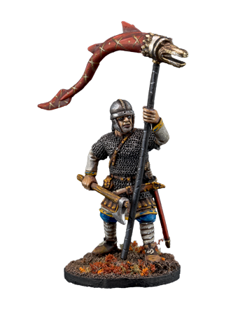 The Anglo-Saxons warrior with banner