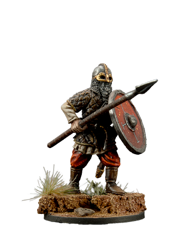Viking holding spear #1