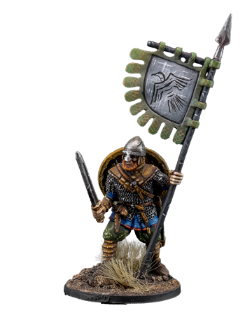 Viking with banner