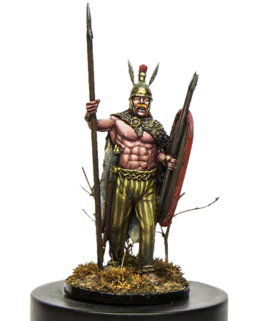Gallic warrior with spear