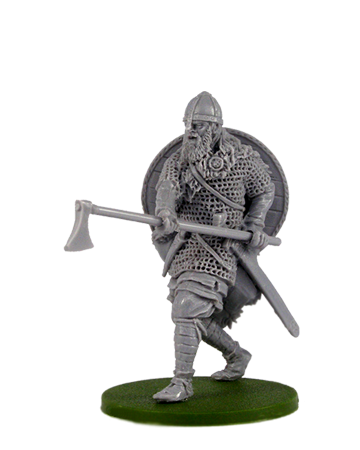 Viking with broad axe