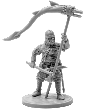 The Anglo-Saxons warrior with a banner
