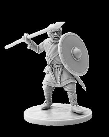 Viking holding spear #4