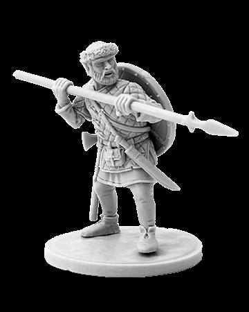 Viking holding spear №6