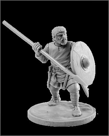 Viking holding spear №7