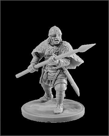 Viking holding spear №8